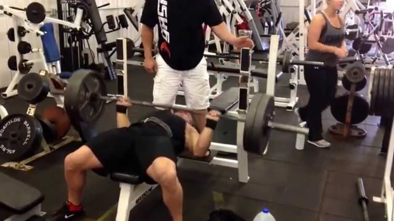450x6 Raw Bench Press Oran Smith 227 bodyweight