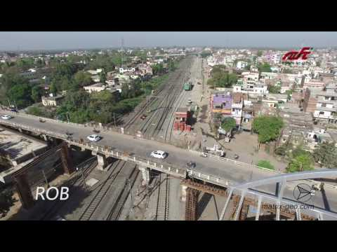 Drone Visuals of Eastern Dedicated Freight Corridors