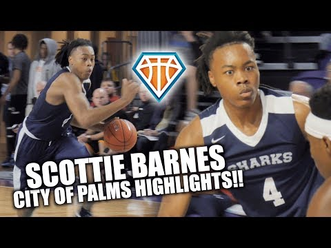 5-STAR Scottie Barnes IS A 6'8 POINT GOD w/ the Rock!! | City of Palms Highlights