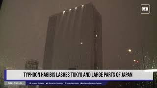 Typhoon Hagibis lashes Tokyo and large parts of Japan