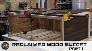 Check it out! In this video I begin building a buffet from reclaimed wood sourced from some old barns in PA. ---------------------------------