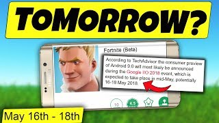 TOMORROW Fortnite Mobile en ANDROID BETA Download no SE RELEASE (Fortnite Android Release Date)