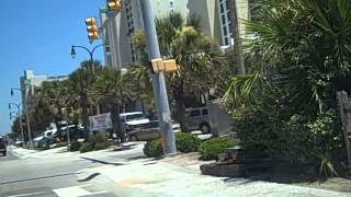driving on ocean blvd on a gorgeous summer day in north myrtle beach
