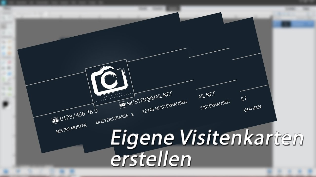 Photoshop Elements Tutorial German Visitenkarte Erstellen