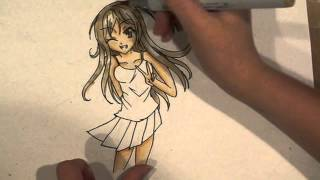 Drawing An Anime Girl With Copics
