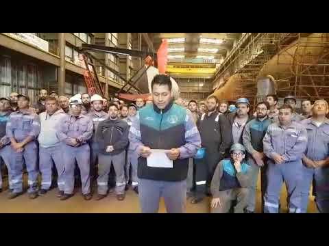 El emotivo mensaje de los obreros que repararon el ARA San Juan: Ya son héroes