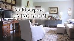 Multipurpose Living Room + Desk Tour 💻