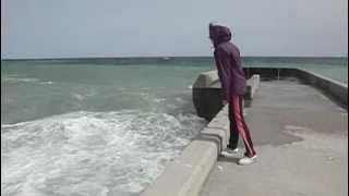 Крым, Ялта, шторм.(Крым, Ялта,