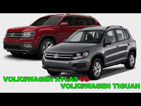 Volkswagen Atlas Vs Volkswagen Tiguan 2018 Interior and Exterior Review Youtube HD