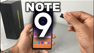 How to install SD and SIM card into Samsung Galaxy Note 9