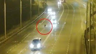 Авария с мотоциклистом на Октябрьском мосту