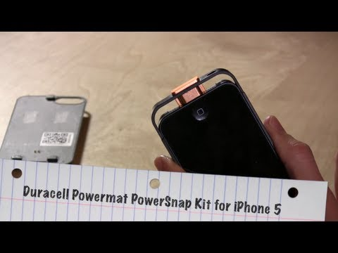 Duracell Powermat PowerSnap Kit for iPhone 5 review - Charges Wirelessly