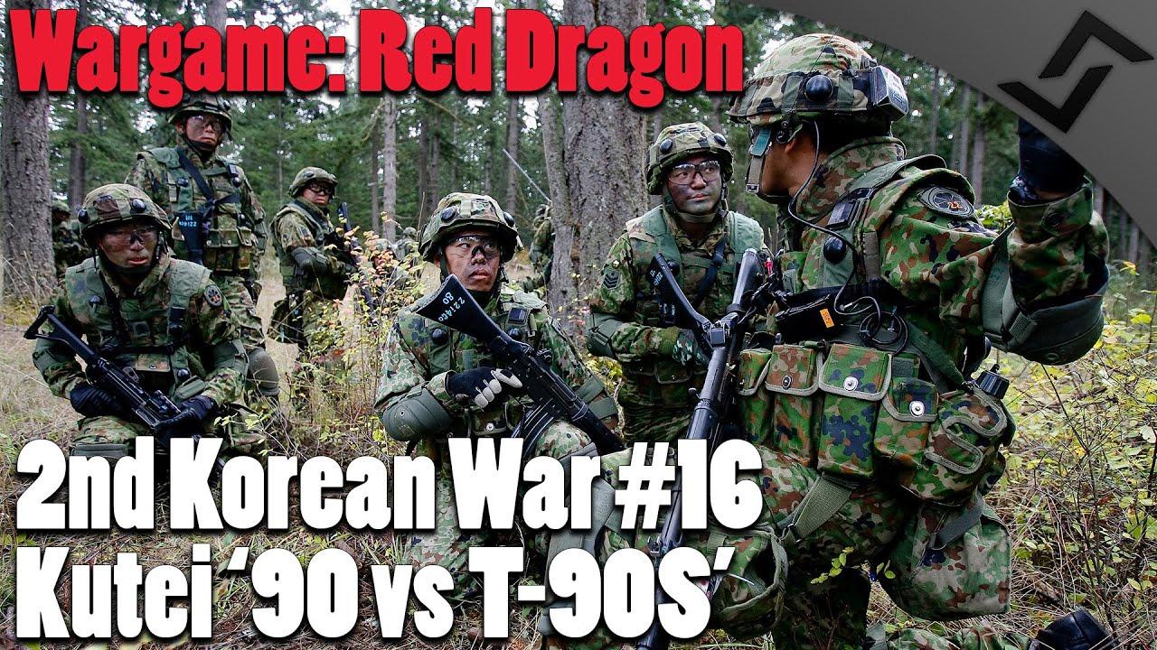 Wargame: Red Dragon - 2nd Korean War #16 - Kutei '90 vs T-90S ...