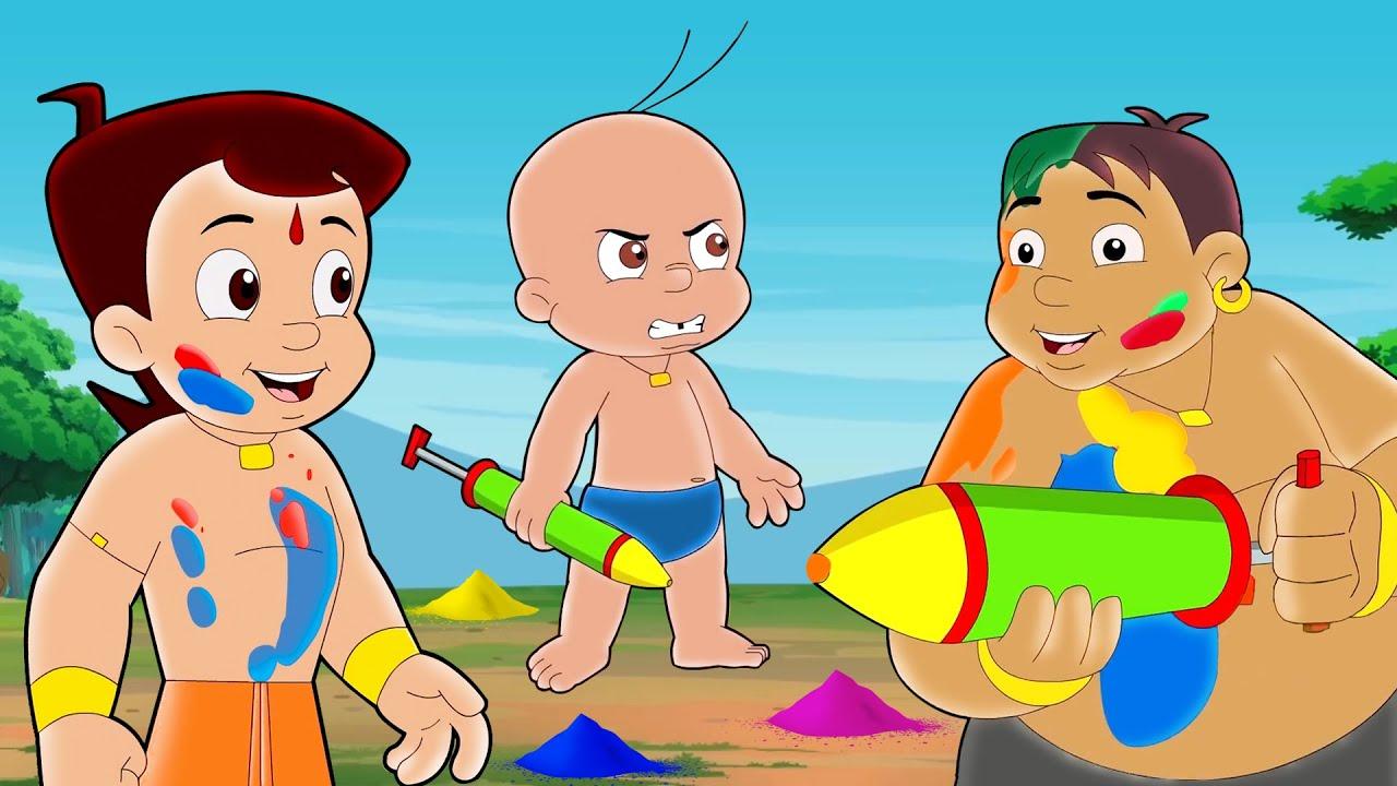Chhota Bheem - Dholakpur Holi Party | Holi Special Video 2021 | Videos for Kids