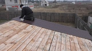Крыша сарая своими руками видео