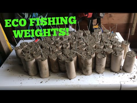 ECO FISHING WEIGHTS, Making Cheap Fishing Weights , Rough Ground