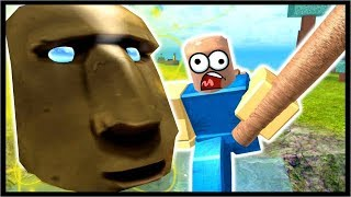 DESTROYING THE OLD GOD ON SKY ISLAND!! | Roblox Booga Booga
