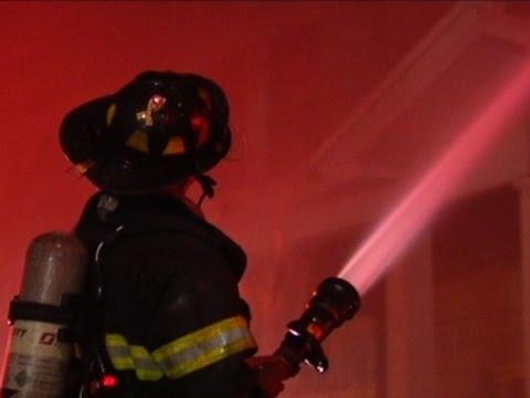 Raw: Multiple Row Houses Burn in Pennsylvania