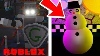 Gallant Gaming emblema animatronic e evento de Natal em Roblox Fazbear e Friends Pizzeria roleplay
