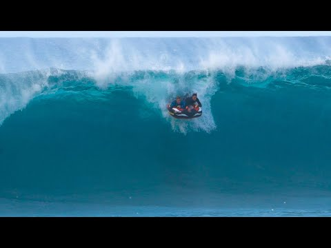 I CANT BELIEVE WE TRIED THIS AT PIPELINE! (BIG WAVE RAFTING)
