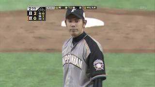 2009日本プロ野球 日本シリーズ3 巨人vs日本ハム 李 超特大 ホームラン.