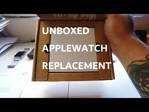 Quick Unboxing Of APPLECARE+ Apple Watch Replacement