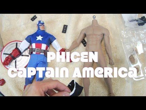 Disney Store PHICEN Captain America Custom Figure not HOT TOYS