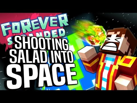 Minecraft - SHOOTING SALAD INTO SPACE - Forever Stranded #85
