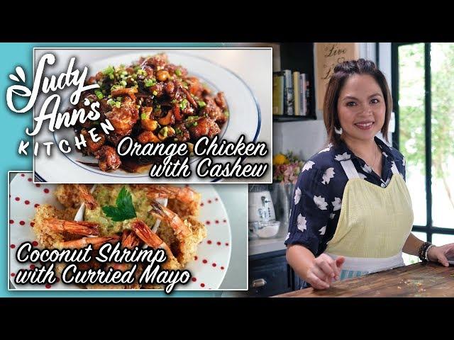 [Judy Ann's Kitchen 12] Ep 3 : Easy Orange Chicken and Crunchy Coconut Shrimp