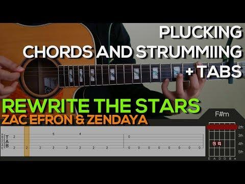Zac Efron Zendaya - Rewrite The Stars Guitar Tutorial [PLUCKING, CHORDS & STRUMMING   TABS]