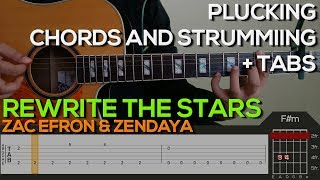 Download Lagu Zac Efron Zendaya - Rewrite The Stars Guitar Tutorial [PLUCKING, CHORDS & STRUMMING + TABS] Mp3