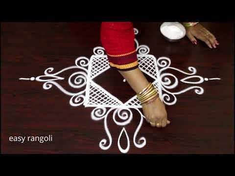 simple creative easy rangoli kolam designs* daily routine small mugggulu designs * latest rangavalli