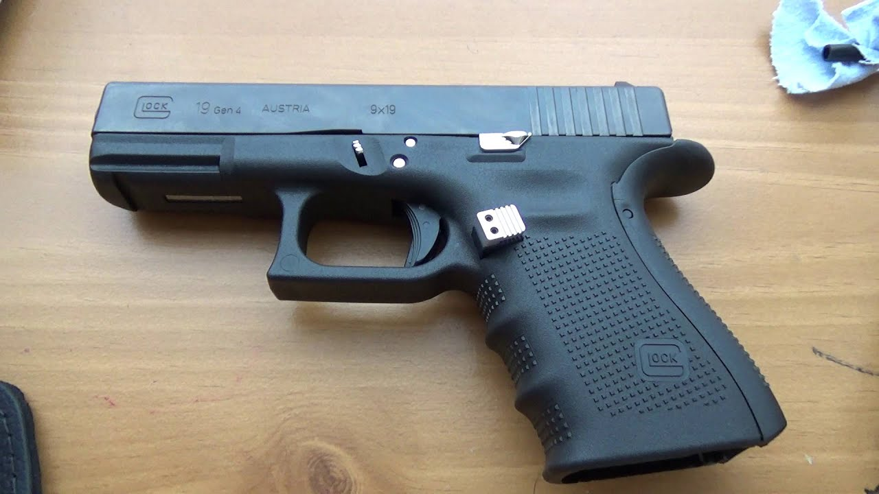 Glock 19 Gen 4 with upgrades review Part 1 - YouTube
