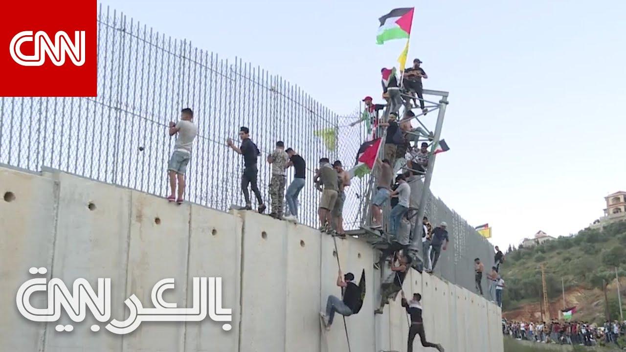 غضب على الحدود اللبنانية الاسرائيلية بسبب أحداث غزة.. شاهد ما حدث  - نشر قبل 2 ساعة