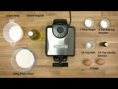 Tower T27018 Easy Clean Rotary Waffle Maker