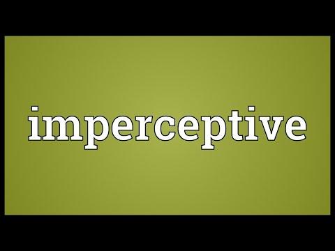 Header of imperceptive