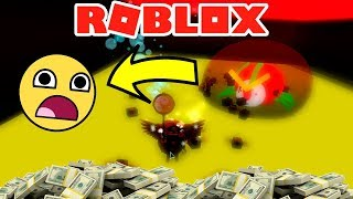 THE MOST STRONG BOSS OF THE GAME: KING ESCARABAJO 😥 - ROBLOX SIMULATOR OF BEES 🐝