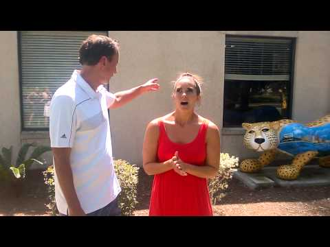 Frank Frangie and Jessica Blaylock do the ALS Ice Bucket Challenge