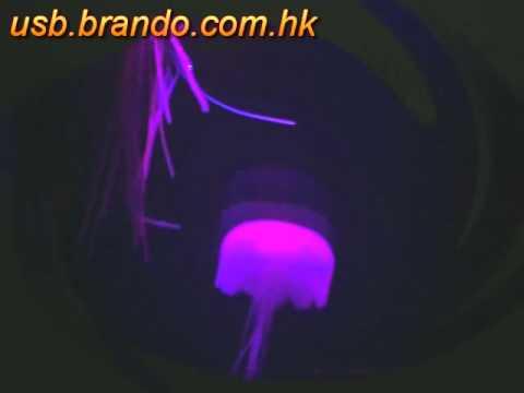 USB Jellyfish Mini Aquarium With Moody Light