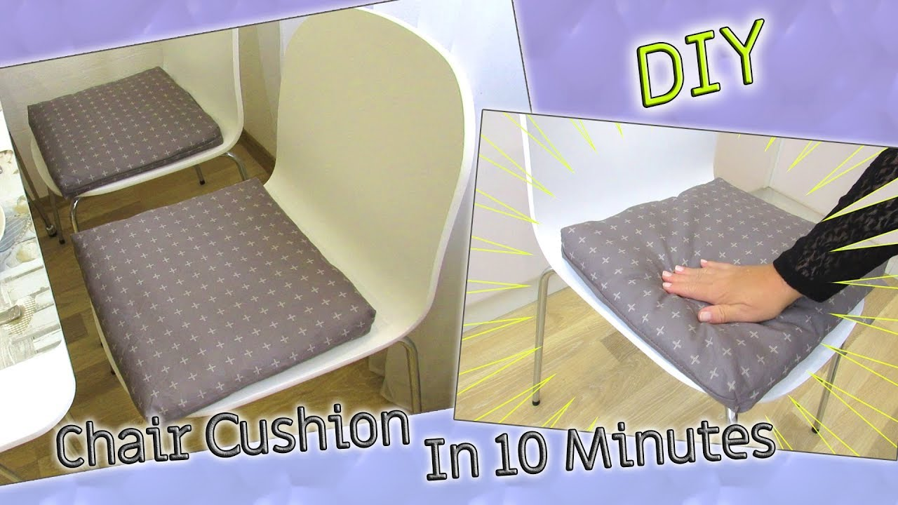 diy chair sushion using pillowcase in 10 minutes how to make seat pad dining room easy and cheap