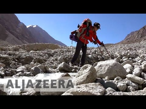 Tajik women trekking to become mountain guides