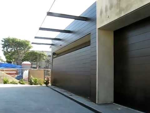 Flush Mounted Custom Wood Garage Door 05 Youtube