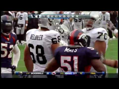 2010 Oakland Raiders Embarrass Denver Broncos 59-14 Highlights