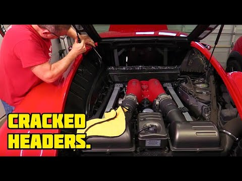 How to replace OEM manifolds with aftermarket headers on a Ferrari F430