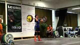 FIVE BEST FINNISH JUNIOR MALE AND FEMALE LIFTERS IN ACTION 11 12 8 2012