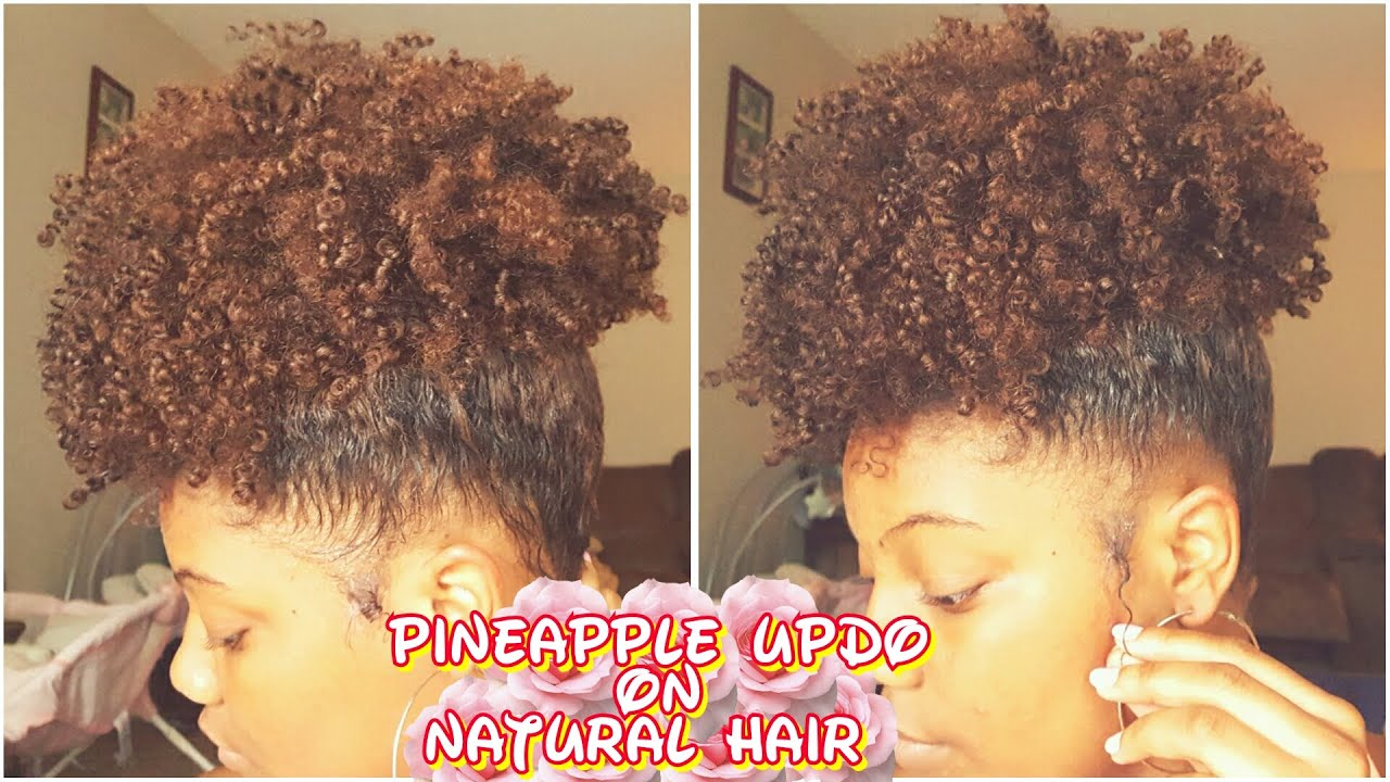 How To Pineapple Updo Natural Hair Youtube