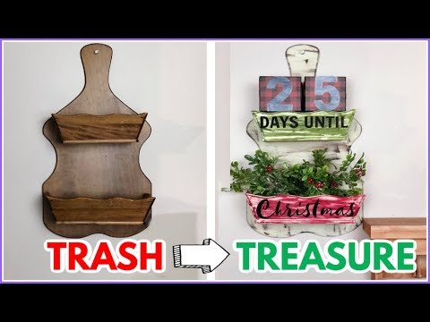 CHRISTMAS TRASH TO TREASURE | Before and After DIY Projects | Trash to Treasure Haul and DIY