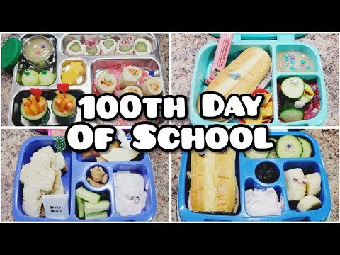 100th Day of School Lunches - Bento style Lunch - Bella Boo's Lunches