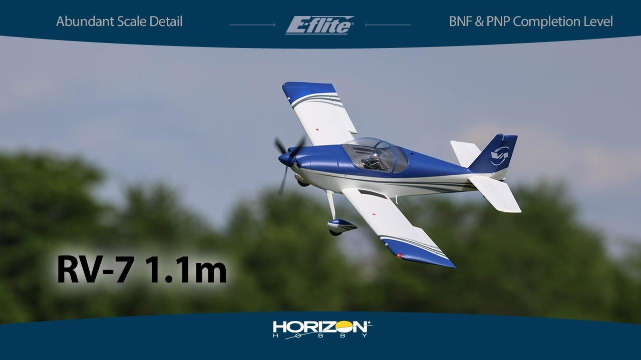 E-flite® RV-7 1.1m BNF® Basic and PNP