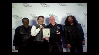 LA Music Awards CEO Al Bowman Presents Stevie Hawkins Nominations On Red Carpet